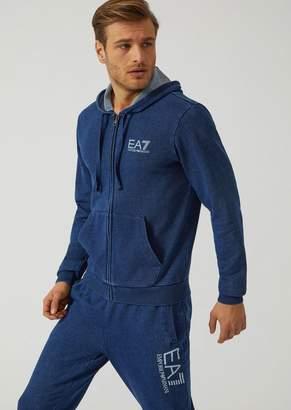 Emporio Armani Ea7 Hooded Sweatshirt In Cotton