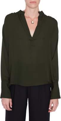 Nili Lotan Colette Blouse in Army