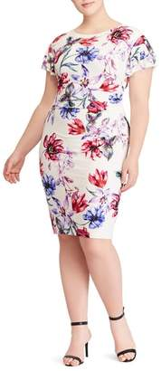 Lauren Ralph Lauren Latoya Swan Song Floral Jersey Sheath Dress