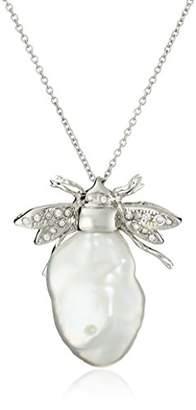 Bella Pearl Keshi Pearl Bee Pendant Necklace