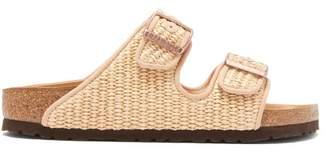 Birkenstock X Il Dolce Far Niente - Arizona Raffia Sandals - Womens - Light Beige