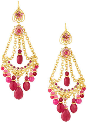 Jose & Maria Barrera LC Exclusive Draped Chain Earrings, Pink