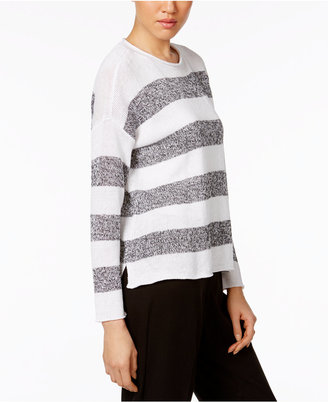 Eileen Fisher Organic Linen Striped Sweater $188 thestylecure.com