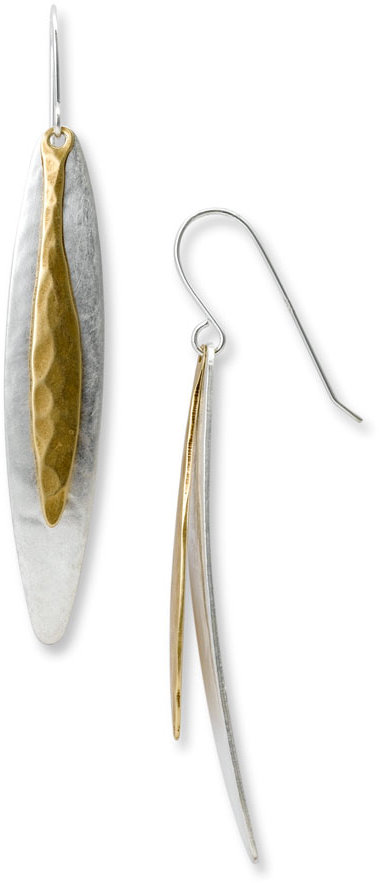 Marjorie Baer Long Overlapping Earrings