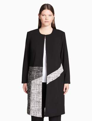 Calvin Klein plus size colorblock topper jacket