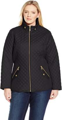 Ellen Tracy Outerwear Women's Plus-Size Plus Zip Font Quilt