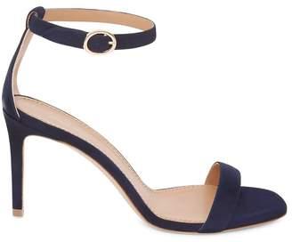 Mansur Gavriel Suede 90Mm Ankle Strap Sandal - Saddle