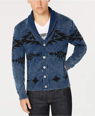 American Rag Men Geometric Shawl-Collar Cardigan