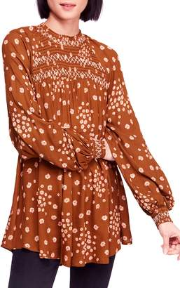 Free People Flowers in Her Hair Smock Detail Tunic Top