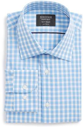 Nordstrom Tech Smart Traditional Fit Stretch Check Dress Shirt