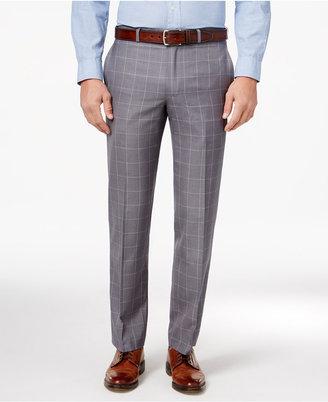 Lauren Ralph Lauren Men's Classic-Fit Gray Windowpane Dress Pants $95 thestylecure.com