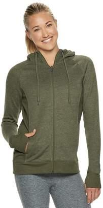 Tek Gear Women's Fleece Hooded Thumb Hole Jacket