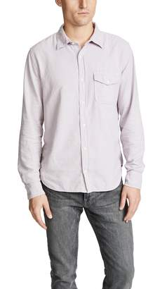 Save Khaki Oatmeal Flannel Work Shirt