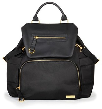 Infant Skip Hop 'Chelsea' Diaper Bag Backpack - Black $100 thestylecure.com