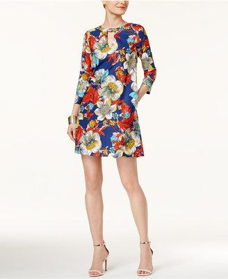 Eci Floral-Print Shift Dress $70 thestylecure.com