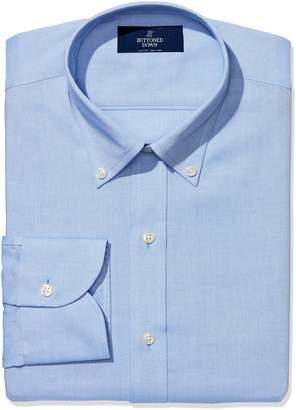 Buttoned Down Men's Slim Fit Button-Collar Non-Iron Dress Shirt (No Pocket)