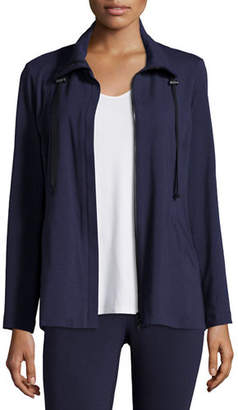 Eileen Fisher High-Collar Stretch Jersey Jacket