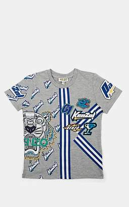 Kenzo Kids' Logo-Graphic Cotton-Blend T-Shirt - Gray