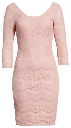 Love, Fire Lace Body-Con Dress