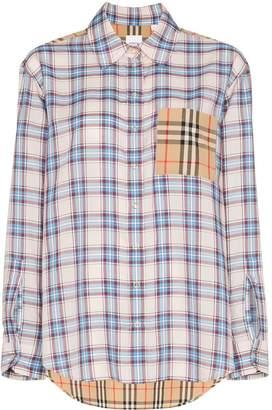 Burberry Payton contrast check shirt