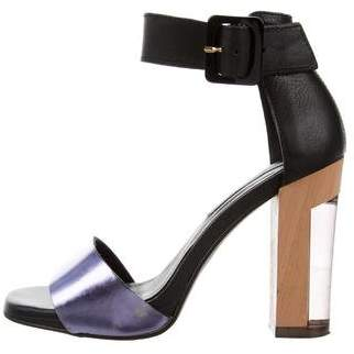 Miista High-Heel Metallic Sandals