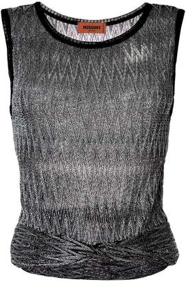 Missoni zig zag sleeveless cropped top
