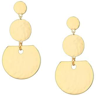 French Connection 3 Disc Drop Earrings Earring