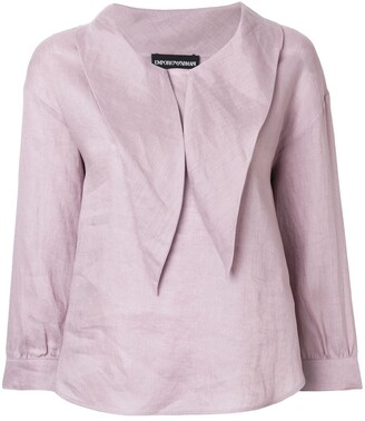 Emporio Armani pointed-collar blouse