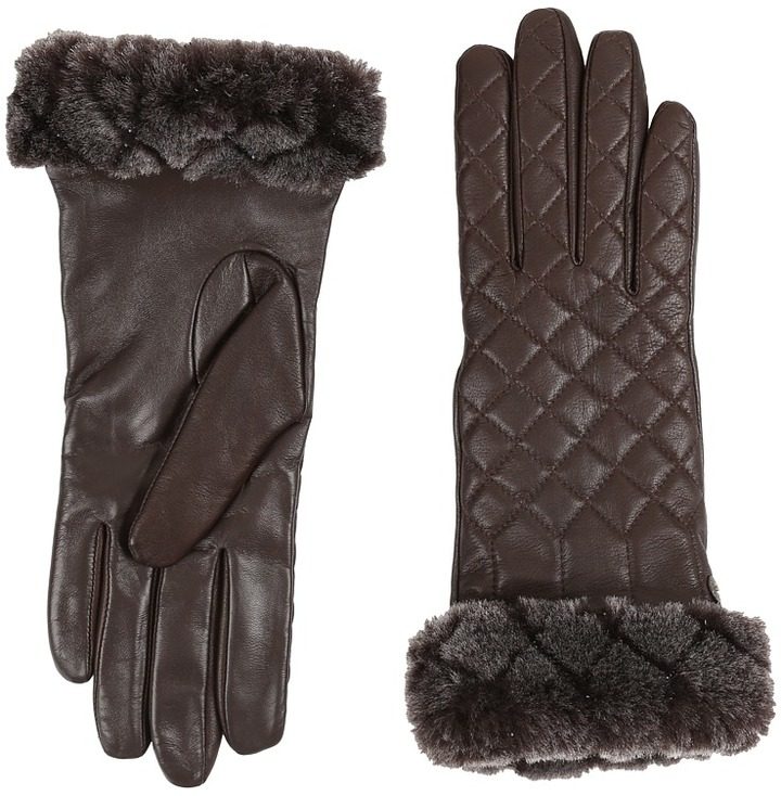 UGG UGG Quilted Croft Leather Smart Gloves