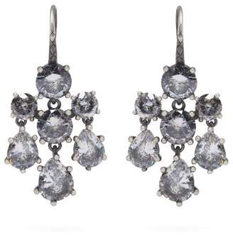 Bottega Veneta Chandelier Oxidised Silver Earrings - Womens - Silver