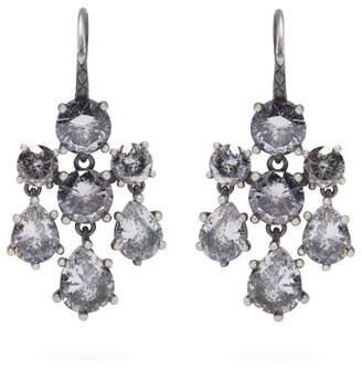 Bottega Veneta - Chandelier Oxidised Silver Earrings - Womens - Silver