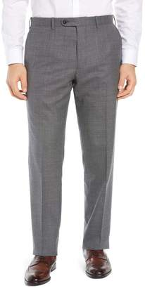 cd839381e John W. Nordstrom R) Torino Flat Front Solid Wool Trousers