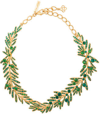 Oscar de la Renta tropical palm necklace
