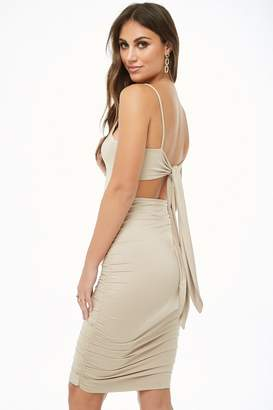 Forever 21 Tie-Back Bodycon Dress