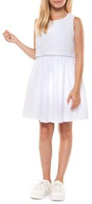 Dex Girl's Cutout Sleeveless Dress