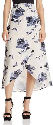 Olivaceous Floral Print Faux-Wrap Skirt - 100% Exclusive