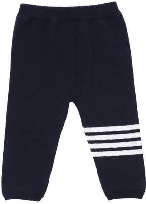 Thom Browne Cashmere Sweatpants W/ Intarsia Stripes