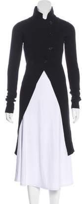 Ann Demeulemeester Long Sleeve Knee-Length Coat