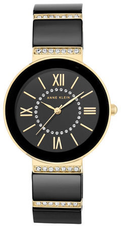Anne KleinAnne Klein Swarovski Crystal Studded Quartz Watch