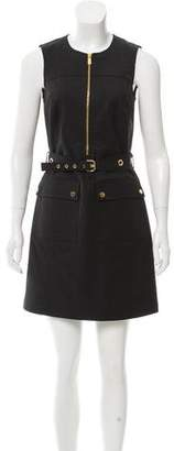 Michael Kors Sleeveless Belted Dress