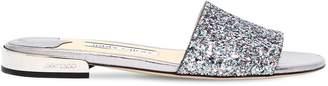 Jimmy Choo 10mm Joni Glittered Slide Sandals