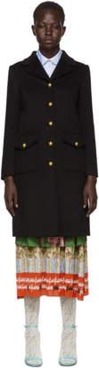 Gucci Black GG Classic Coat