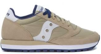 Saucony Jazz Sneaker In Beige Suede And Nylon
