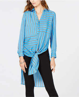 INC International Concepts I.n.c. Petite Striped Tunic Shirt, Created for Macy's