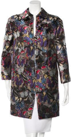 ValentinoValentino Silk Camubutterfly Coat