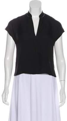 Alice + Olivia Silk Short Sleeve Blouse