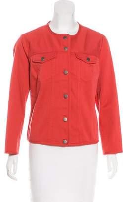 Pendleton Collarless Button-Up Jacket