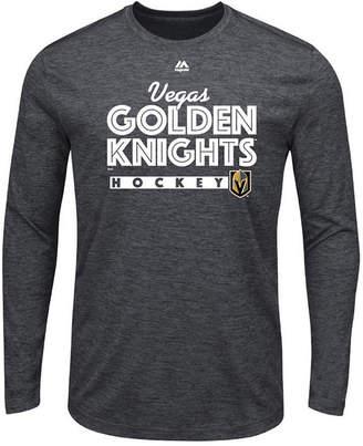 Majestic Men Vegas Golden Knights Crash the Net Long Sleeve T-Shirt