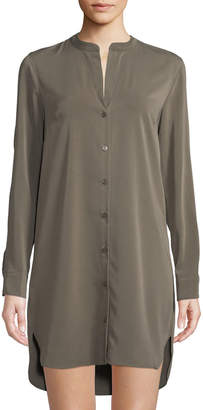 BCBGeneration Cold-Shoulder Long-Sleeve Shirtdress