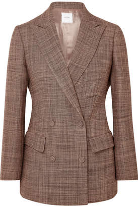 Agnona Double-breasted Wool-tweed Blazer - Pink